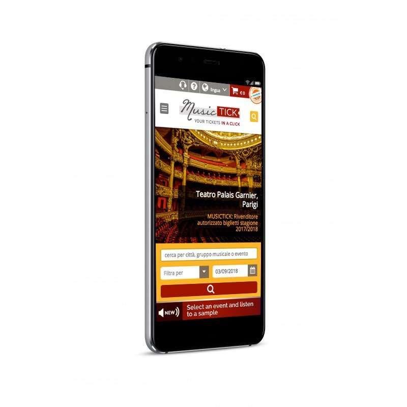 musictick mobile website