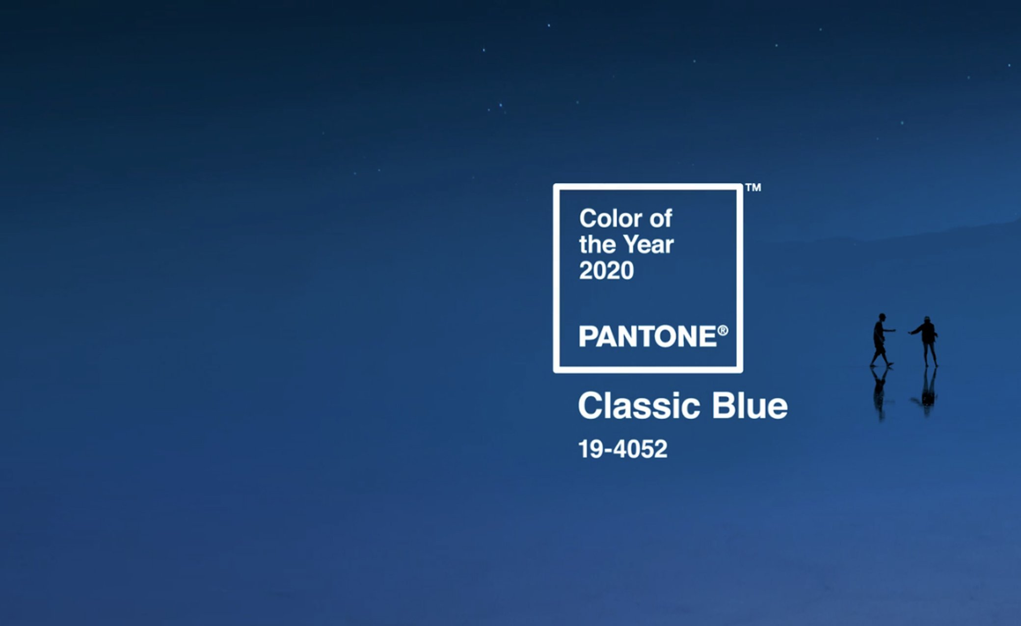 slide pantone classic blue